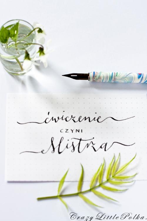 kaligrafia cwiczenie